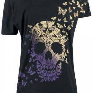 Full Volume By Emp Butterfly Skull Naisten T-paita