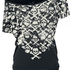 Full Volume By Emp Crossbones Skully Shirt Naisten T-paita