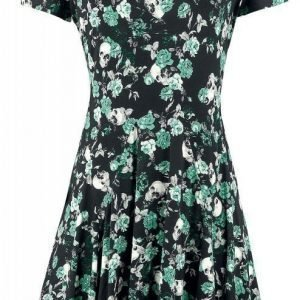 Full Volume By Emp Floral Skull Cold Shoulder Dress Mekko