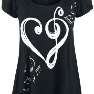 Full Volume By Emp Heart Clef Shirt Naisten T-paita