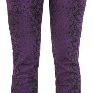 Full Volume By Emp Snake Print Trousers Slim Fit Naisten Kangashousut