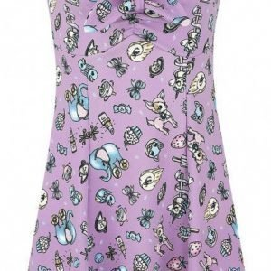 Full Volume By Emp Vintage Toy Print Cross Back Dress Mekko