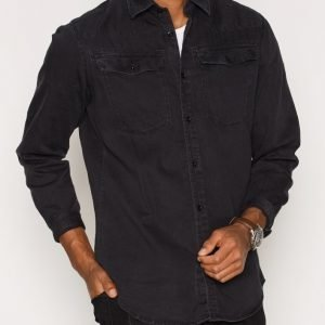 G-Star 3301 Shirt L/S Kauluspaita Black