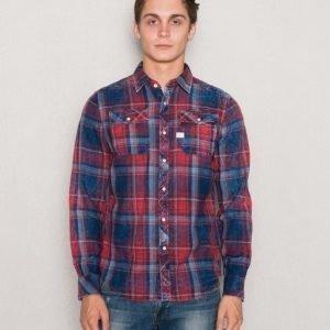G-Star Landoh Shirt Indigo Antic Red Check