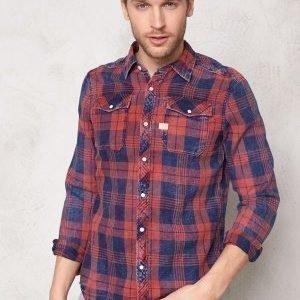 G-Star Landoh Shirt l/s 6132 Indigo/redwood