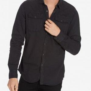 G-Star Landoh Shirt l/s lt wt Kauluspaita Black