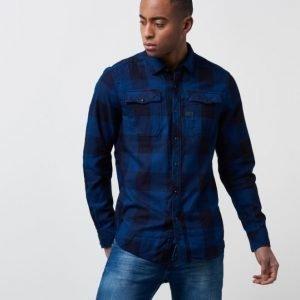 G-Star Landow Shirt Indigo Rinsed Check