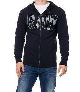 G-Star Raw Moiric Hooded Sweat Mazarine Blue