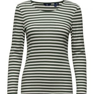GANT 1x1 Rib Striped T-Shirt Ls
