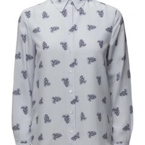 GANT O1. Striped Paisley Print Shirt pitkähihainen paita