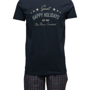 GANT Pajama Set Yale Check Holiday T pyjama