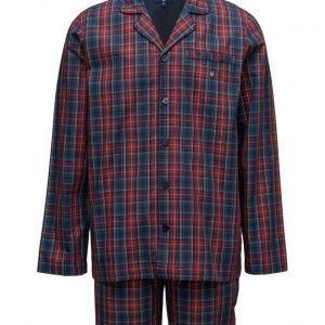 GANT Pajama Set Yale Check Logo Elastic pyjama