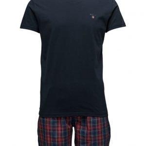 GANT Pajama Set Yale Check Logo T pyjama