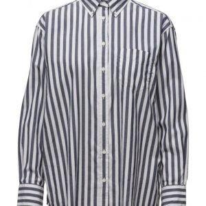 GANT R1. Dreamy Oxford Ex Boyfrie Stripe pitkähihainen paita