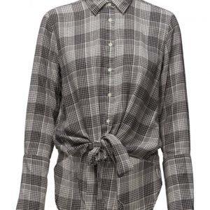 GANT R2. The Checked Flannel Knot Shirt pitkähihainen paita