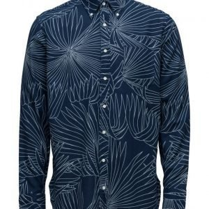 GANT Rugger R. Indigo Oxford Palm Long Shirt