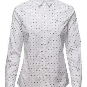 GANT Stretch Oxford Printed Dot Shirt pitkähihainen paita
