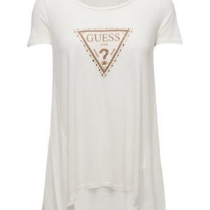 GUESS Jeans Rn Ss Triangle Knit