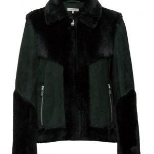 Ganni Emerson Shearling Jacket nahkatakki