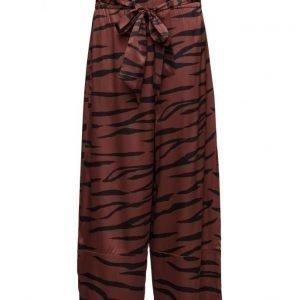 Ganni Iona Silk leveälahkeiset housut