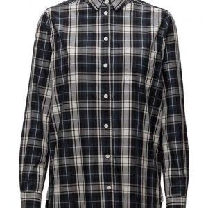 Ganni Kaori Check pitkähihainen paita