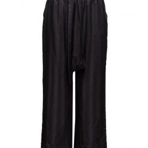 Ganni Kendal Silk leveälahkeiset housut