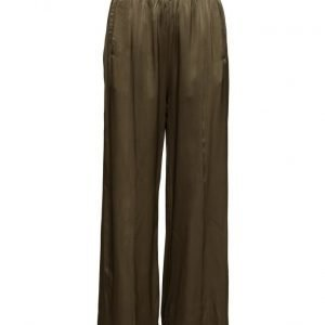 Ganni Sanders Satin leveälahkeiset housut