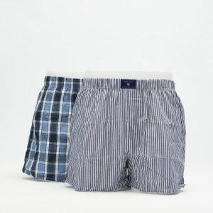 Gant 2-pack Boxer Shorts Gant Check 416 Nightfall Blue