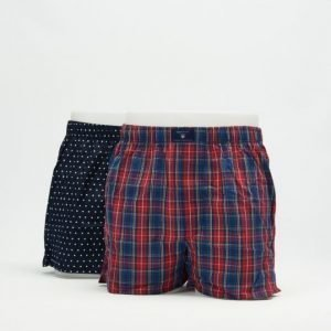 Gant 2-pack Boxer Shorts SH. Yale Stars Elastic 610 Red