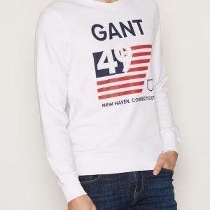 Gant American Flag Sweater Pusero White
