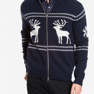 Gant Christmas Zip Jacket Neulepusero Marine