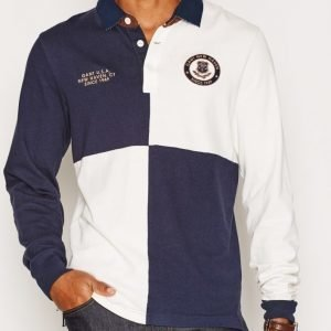 Gant Color Blocked Heavy Rugger Pikeepaita Marine