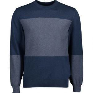 Gant Denim Block Crew Neule