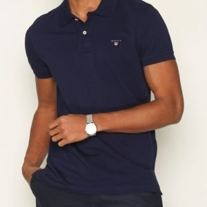 Gant Fitted Pique Rugger Pikeepaita Blue