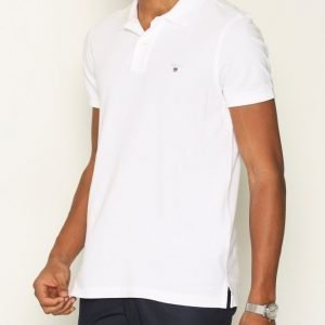 Gant Fitted Pique Rugger Pikeepaita White