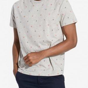 Gant Foulard T-shirt T-paita Grey Melange