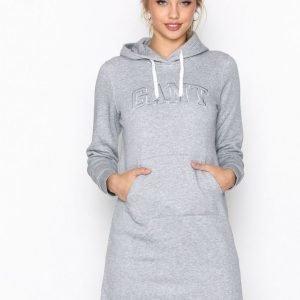 Gant Hoodie Dress Mekko Grey Melange