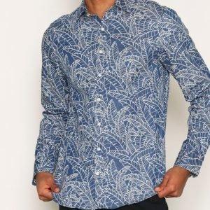 Gant Indigo Leaf Shirt Kauluspaita Sininen/lila