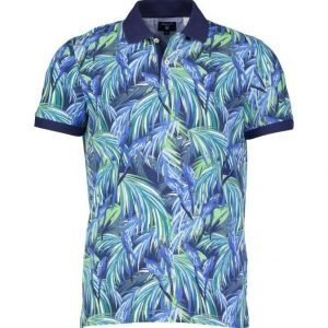 Gant Jungle Parrot Print Rugger Pikeepaita