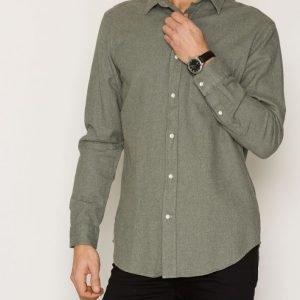 Gant Rugger R. Melange Twill Shirt Kauluspaita Green