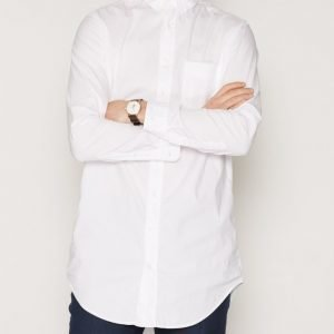 Gant Rugger R1. Dreamy Oxford Long Shirt Lfbd Kauluspaita White
