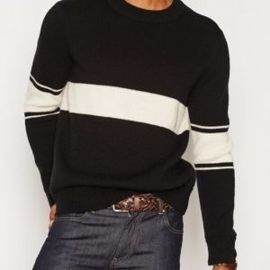 Gant Rugger R2 Varsity Wool Knit Pusero Black