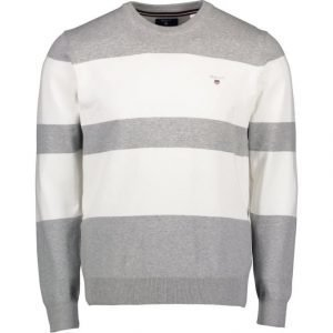 Gant Stretch Cotton Block Crew Neule