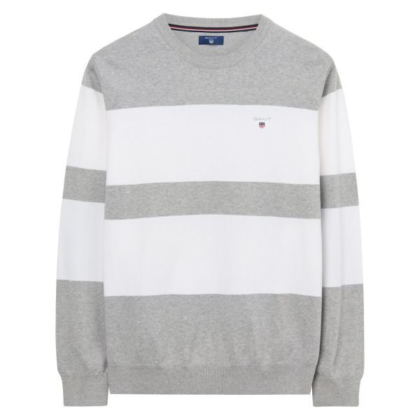Gant Stretch Cotton Block Crew Raitaneule