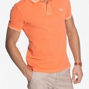 Gant Sunbleached Pique Rugger Pikeepaita Tangerine