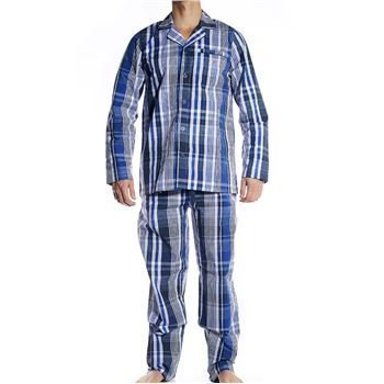 Gant Woven Cotton Pyjama Set Navy
