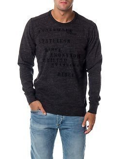 Garcia Jeans Stateless Sweat Raw Black