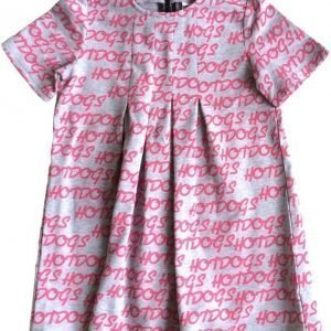 Gardner and the gang Mekko Dance dress Hotdogs repeat hot pink Grey