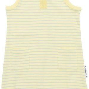Geggamoja Hihaton puku Vauvan Raidallinen Yellow/Grey Pink