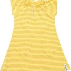 Geggamoja Mekko Raidallinen Yellow/White Yellow